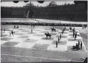 A-game-of-human-chess-Russia-1924