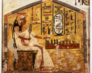 Fresco Painting of Nefertari Playing Senet